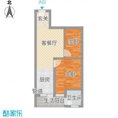 安康・金海湾48.00㎡06/1户型