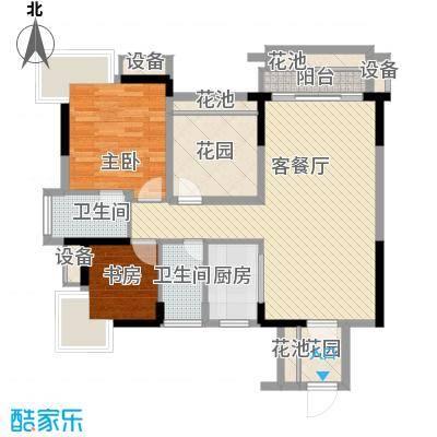 凯旋名门花园2.37㎡凯旋名门01/02单位户型3室2厅2卫1厨-副本