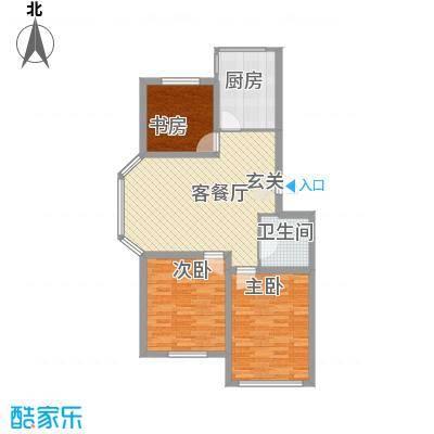 瑞合领秀恋恋山城11.60㎡户型3室2厅1卫