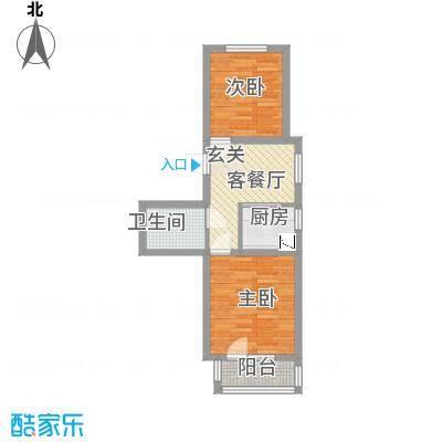 世纪新园・悦园62.24㎡户型