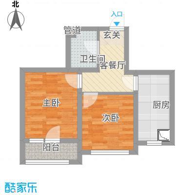 世纪新园・悦园58.31㎡户型