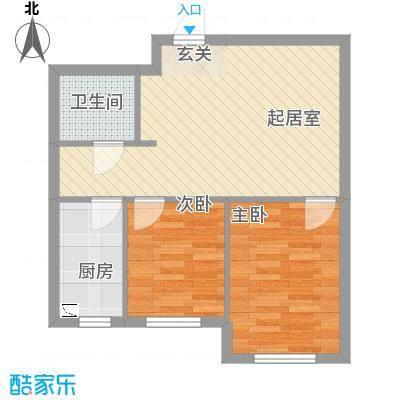 宏业枫华62.00㎡户型2室1厅1卫