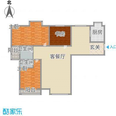香水湾316.20㎡尊贵三居户型3室2厅2卫1厨