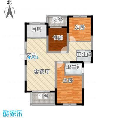 临商水岸明珠20#D_户型3室2厅2卫1厨