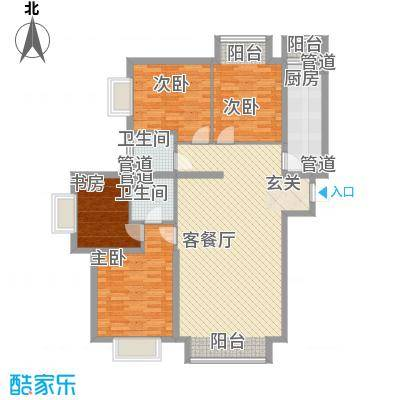 滨江壹号住宅151.24㎡户型4室2厅2卫