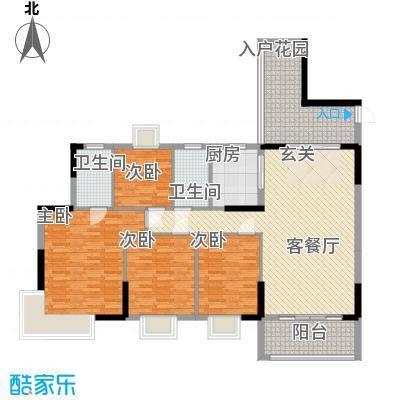 金世纪嘉园145.80㎡2栋01-02户型4室2厅2卫1厨