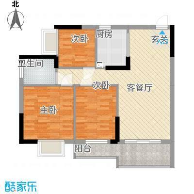 金世纪嘉园1.20㎡1栋01-02户型3室2厅2卫1厨