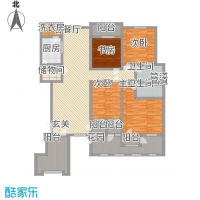 滨江壹号23.40㎡洋房2层效果图户型4室2厅2卫