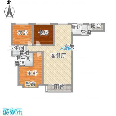 泰丰时代城二期136.30㎡泰丰户型