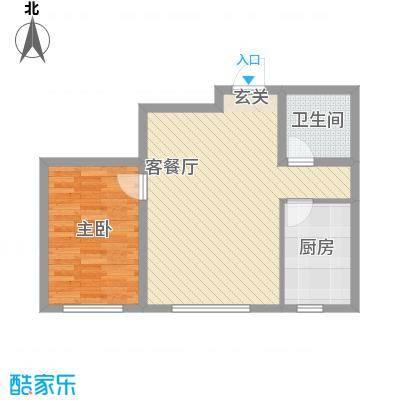 鑫城广场6.60㎡B户型