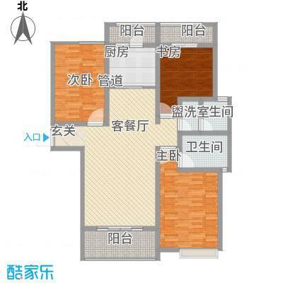 安阳义乌商贸城二期147.00㎡住宅C3户型3室2厅2卫1厨