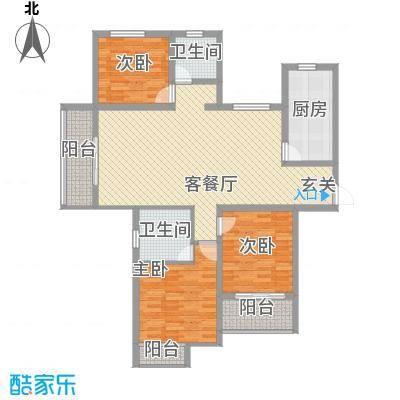 安阳义乌商贸城二期142.00㎡住宅C1户型3室2厅2卫1厨