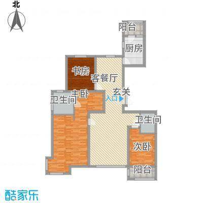 世家官邸158.10㎡C2户型3室2厅2卫