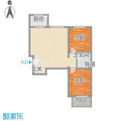 祥云・黄金叶8.62㎡A户型2室2厅1卫1厨