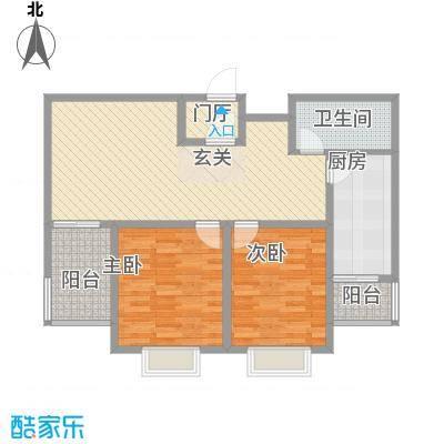祥云・黄金叶15.72㎡D户型2室2厅1卫1厨