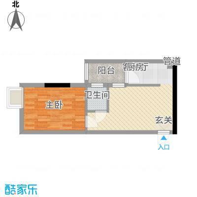 锦绣华景45.00㎡2门0户型1室1厅1卫