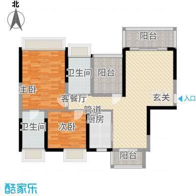 紫檀山115.00㎡6栋A1户型3室2厅2卫1厨