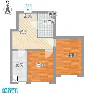 世纪新园・悦园53.60㎡户型