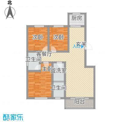 瑞金福邸111.70㎡F户型3室2厅2卫1厨