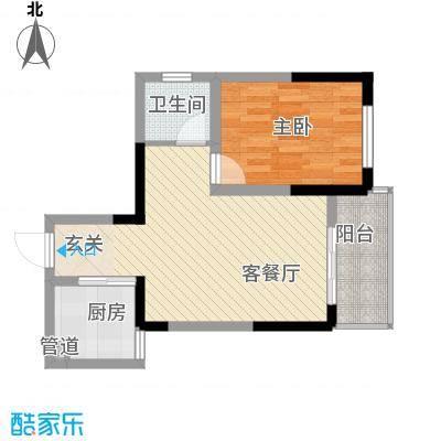 瑞金福邸58.68㎡07户型1室1厅1卫1厨