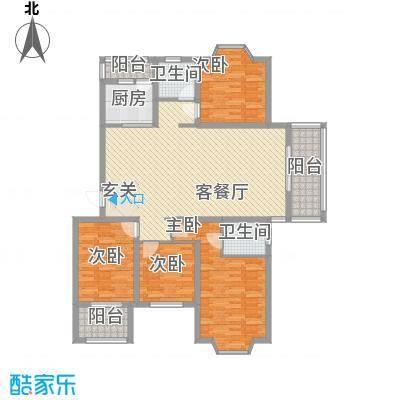 盛世豪庭135.20㎡A-8户型4室2厅2卫1厨