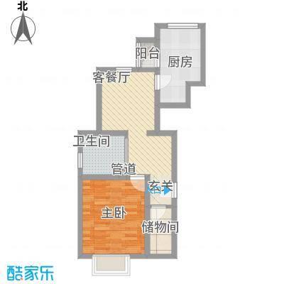歌华中奥广场・中奥花园64.00㎡户型