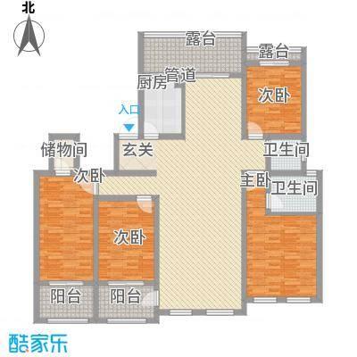 永顺东方塞纳177.40㎡6层户型4室2厅2卫1厨