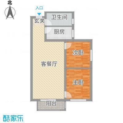 京都佳苑85.40㎡B户型2室2厅1卫1厨