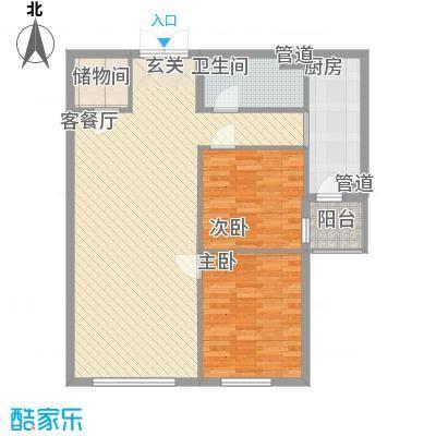 首创・龙湾户型2室2厅1卫1厨