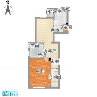 富虹阳光尊邸三期64.00㎡户型