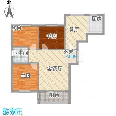山河铭家114.45㎡_p0005户型3室1厅1卫1厨