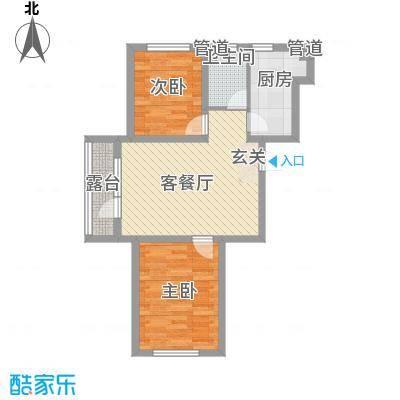 建荣・皇家海岸83.66㎡D4户型2室2厅1卫