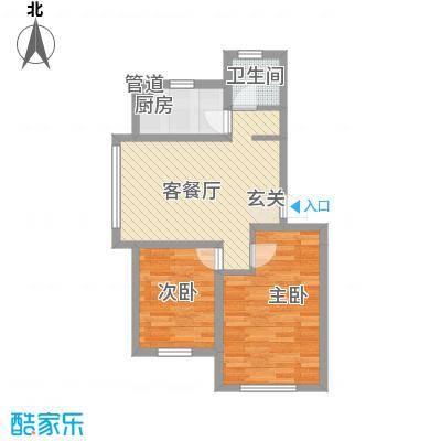 中央上城65.00㎡1户型2室1厅1卫1厨