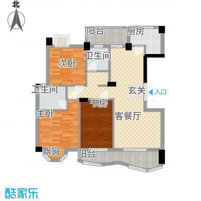 中地・滨江国际14118.20㎡14号楼户型3室2厅2卫1厨