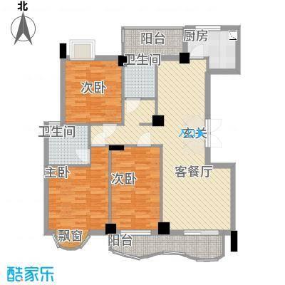 中地・滨江国际18118.20㎡18号楼B4双卫户型3室2厅2卫