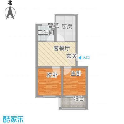 瑞合领秀恋恋山城76.00㎡户型2室1厅1卫