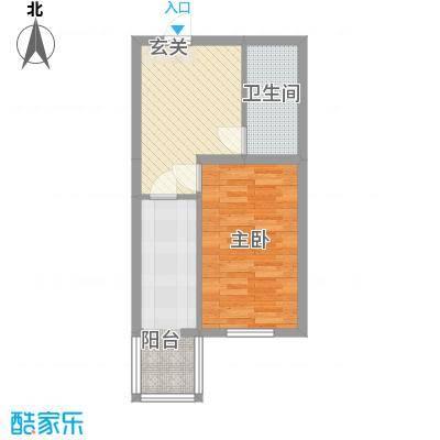 祥合林苑4.53㎡祥和林苑户型1室1厅1卫1厨