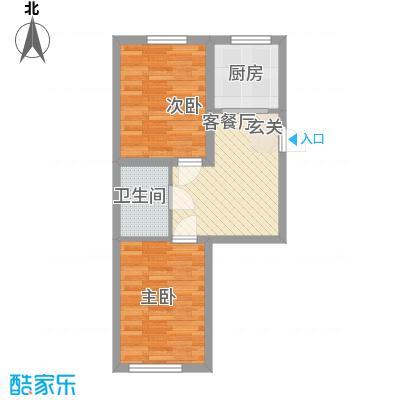 世纪新园・悦园62.30㎡户型