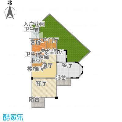 万科麓湖别墅220.65㎡60、61、62栋溪谷别墅的一层户型1室2厅2卫1厨-副本