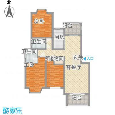 盛世豪庭115.20㎡A-4户型3室2厅2卫1厨