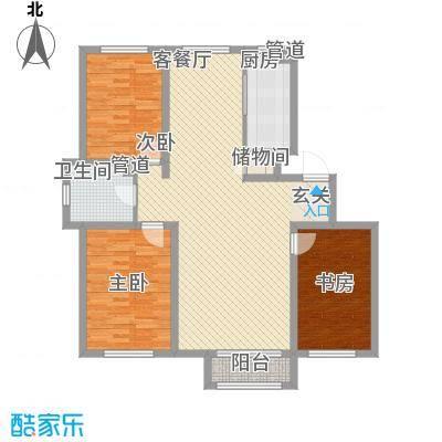 锦山庄园121.20㎡A户型3室2厅1卫