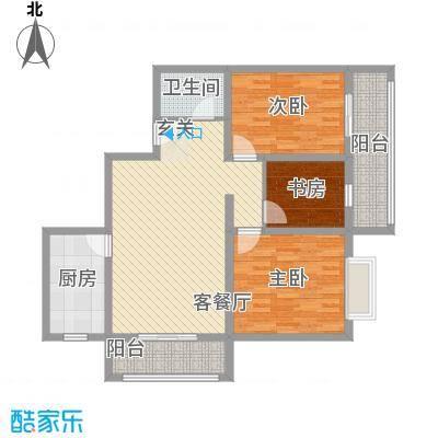 翡翠江南116.76㎡C户型3室2厅1卫1厨