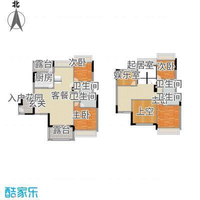 大华・富贵世家2.20㎡2#、6#二单元01楼中楼5室户型5室3厅4卫1厨