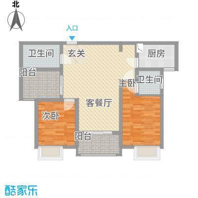 九华学府二期5#楼标准层C2户型