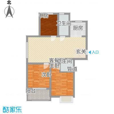 九华学府二期5#楼标准层D2户型