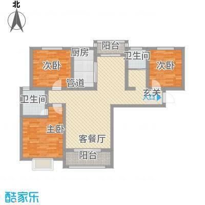中辰万和城126.80㎡B3-1户型3室2厅2卫1厨