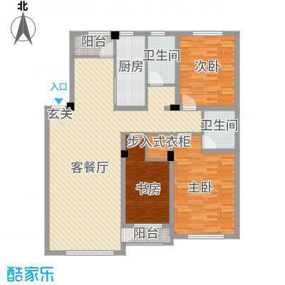 圣大・英伦国际132.00㎡M户型3室2厅1卫2厨
