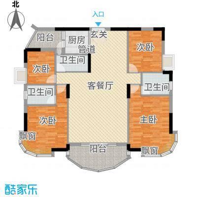 景亿凤凰谷17.00㎡凤凰别馆―豪华型户型4室2厅3卫-副本
