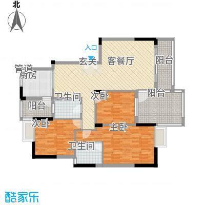 水木天骄4C户型3室2厅2卫1厨