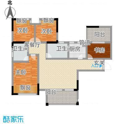 华恩・凯丽滨江137.74㎡户型3室2厅2卫1厨